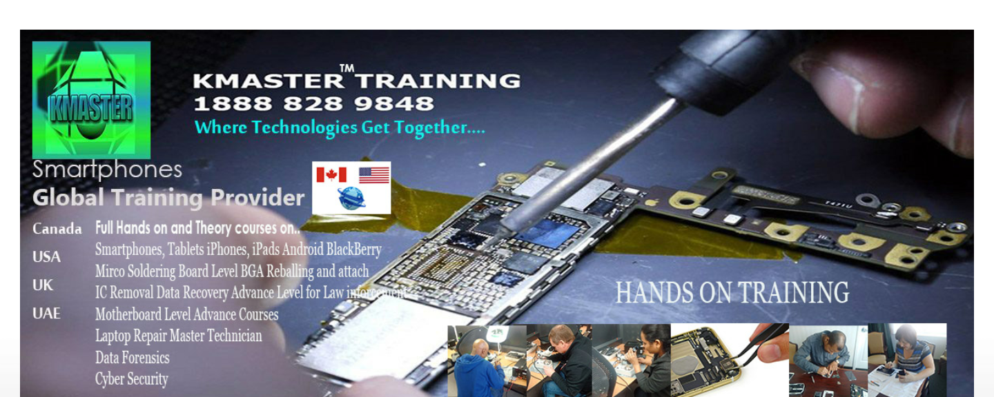 Cell Phone iPhone Repair Training Course Canada Usa Uk Uae and World